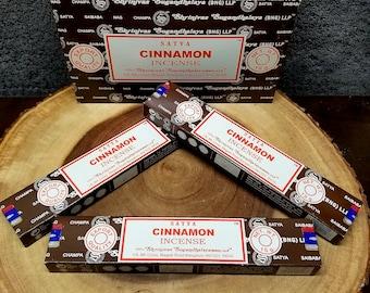 1 Box CINNAMON Incense Sticks --- 15 g (grams) --- Satya Sai Baba