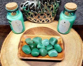 LARGE GREEN AVENTURINE --- 1 Tumbled Gemstone --- Large Size --- Grade A