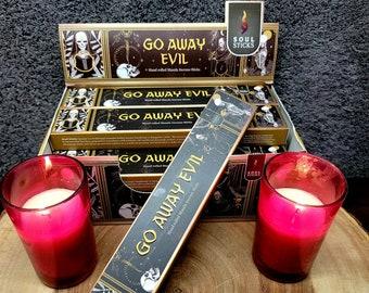 GO AWAY EVIL Incense Sticks --- Hand Rolled Masala ---  15 gram package --- by SoulSticks