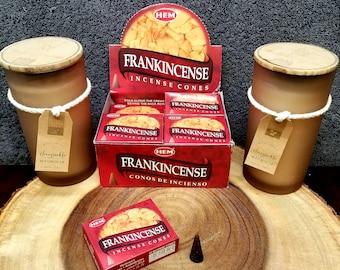 FRANKINCENSE Incense Cones --- Box of 10 Cones --- By HEM