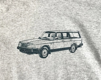 Volvo 240 Wagon Tee Shirt Heather Gray Youth Sizes