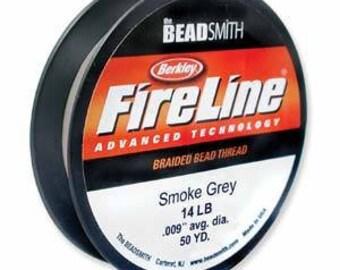 Fireline, 14 LB, 50 yard spool, Smoke Grey