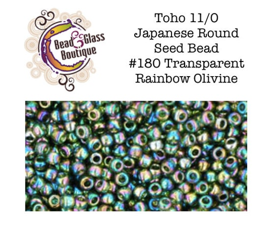 15//0 Round TOHO Japan Glass Seed Beads #37-Silver-Lined Olivine 10g