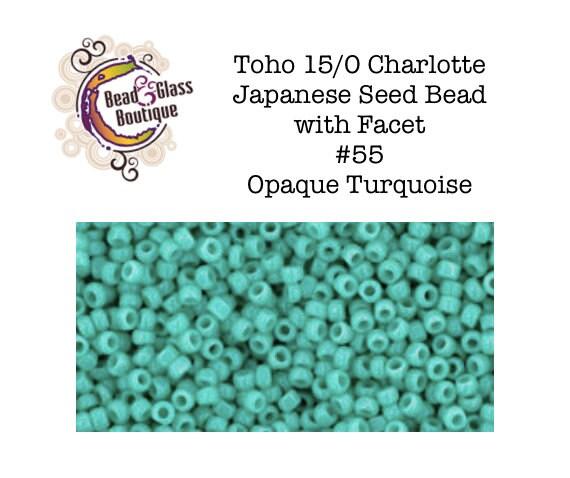 11//0 Triangle Toho Japan Glass Seed Beads #55-Opaque Turquoise 10 grams