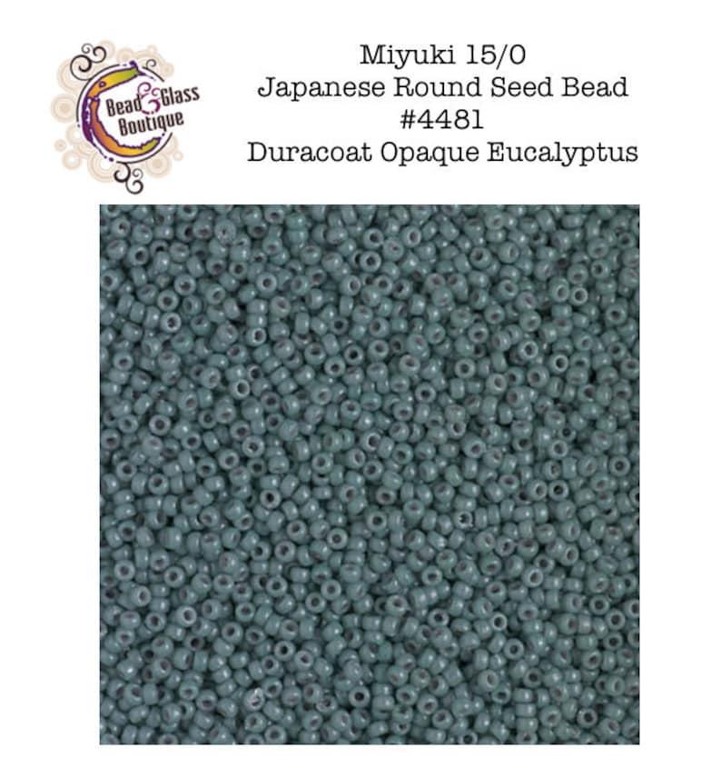 Seed Bead Japanese Round Bead CHOOSE YOUR SIZE: 110 and 150 #4481 Duracoat Opaque Eucalyptus Miyuki