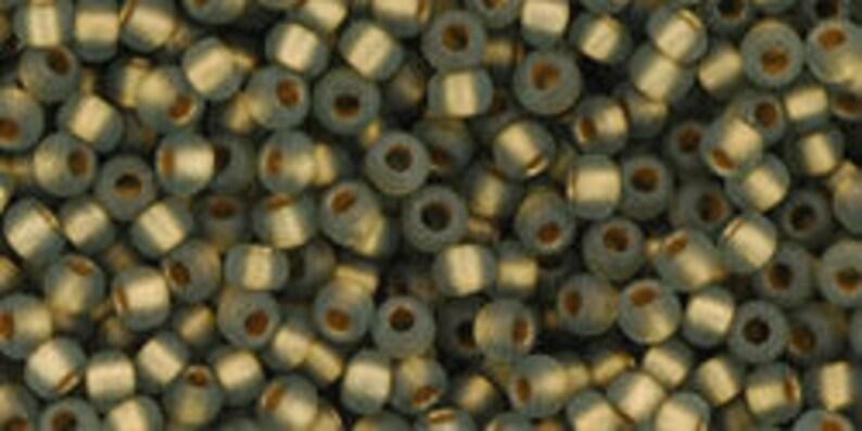 Toho #999FM approximately 22-24 gram tube Japanese Round Bead Frosted Gold Lined Black Diamond Seed Bead 110