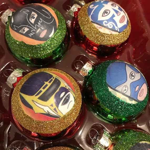 Mexican Christmas Decorations.Lucha Libre Luchador Mexican Christmas Ornaments Decorations