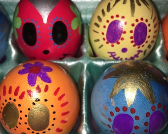 Halloween Gender Reveal Eggs Day of the Dead Dia de Los Muertos Mexican Cascarones Confetti Egg Pink Blue Baby Shower