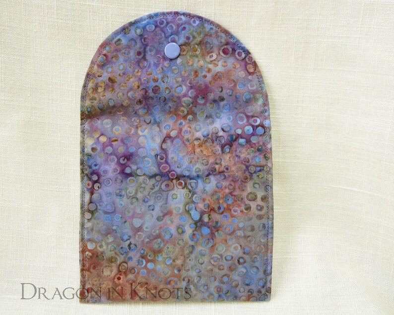 pocket mirrors passports etc. 5 batik polka dot case for feminine supplies Purple Accessory Pouch