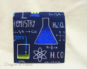 Chemistry Snap Pouch - navy blue case for passport, cords, feminine hygiene, or other small items