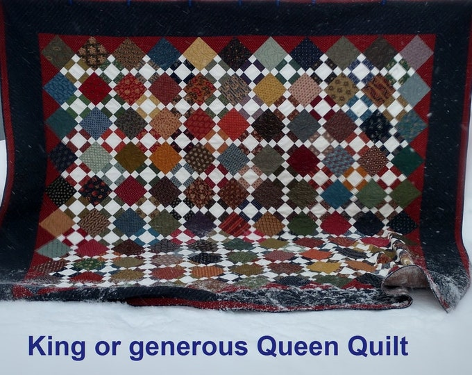 Winter in Wisconsin - Homemade Quilt - KING/QUEEN SIZE - 106 x 98