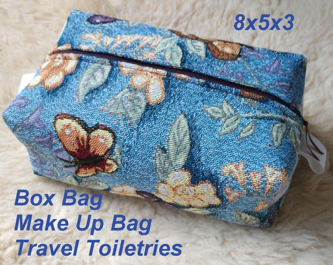 Butterfly Box Bag - Make Up Bag - Travel Toiletries - Shaving Travel Kit