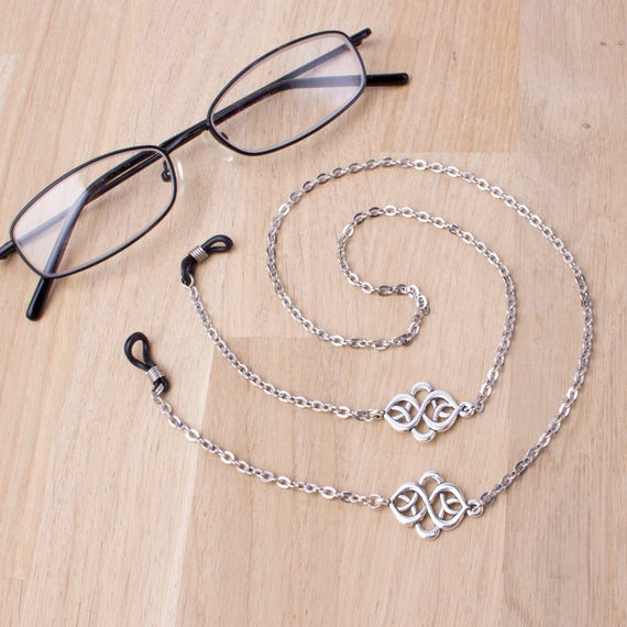 Glasses Retainer Cord Neckless Large White Pearl Beads Design 2 Colours SG-UK