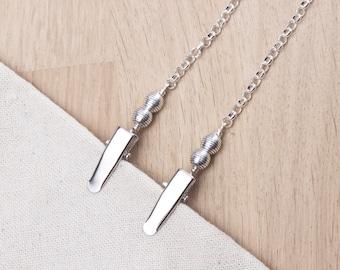 Napkin clips - Tibetan balls napkin chain | serviette holder cord | napkin neck chain | Plain Adult bib clip | Mask holder chain strap