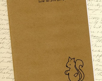 Instant Download THREE DOLLAR SQUIRREL No. 1 Roadblocks - How do you get past walls in your writing - Monthly Writing Zine