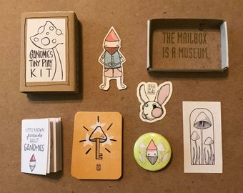 Ganomie Mini Travel Play Kit limited edition for coloring, card games, and photobombing