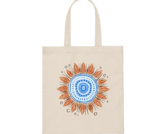 Canvas Southwest Summer Skies Tote Bag