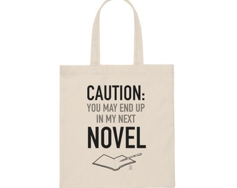 Canvas Writer Alert Tote Bag
