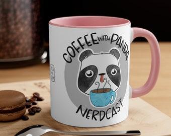 Coffee with Panda Nerdcast Accent Coffee Mug, 11oz