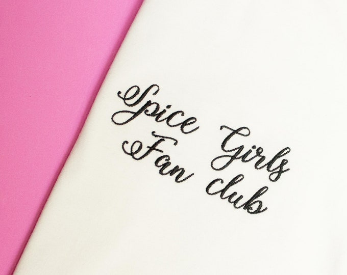 Spice Girls t-shirt, Spice girl fan club tshirt, perfect white tee for Spice Girl fans