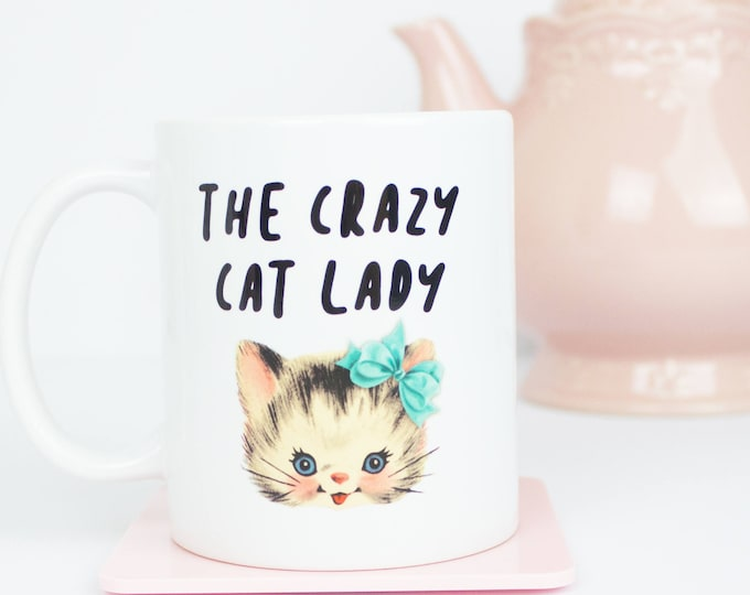 Call me the crazy cat lady mug, cat mum mug