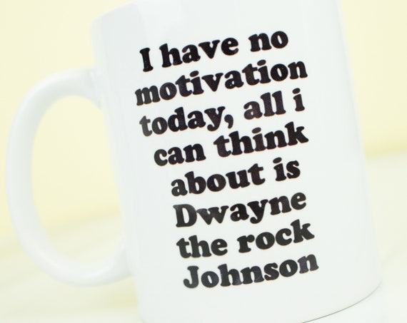 Dwayne Johnson the rock mug, we love Dwayne Johnson mug! Personalise the back, the rock coffee mug