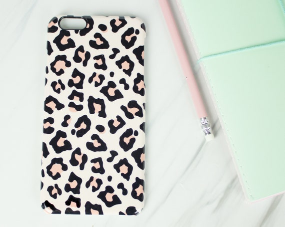 Leopard print phone case for Iphone or Samsung phones, leopard print iphone case