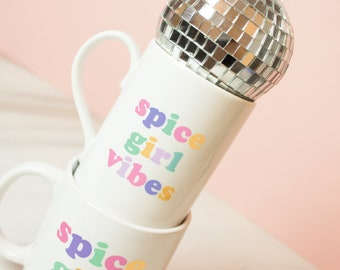 Spice Girls Vibes mug, spice up your life, add some sparkle, girl power mug