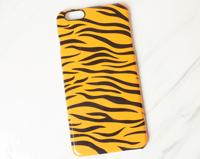 Tiger print phone case for any iphone, galaxy, phonecase iphone 6, 7, 8, X, XD, XS, striking animal print