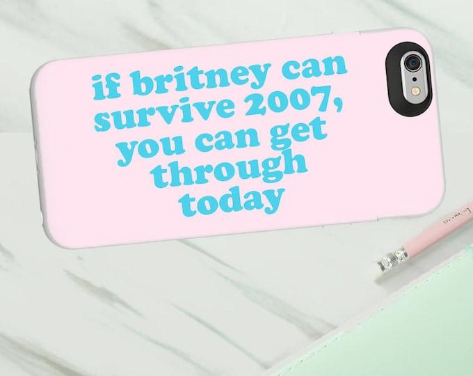 Britney 2007 phone case for Iphone or Samsung phones, vegan af print iphone case