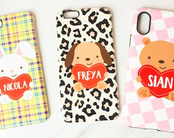 Kitsch phone cases, amazing patterns with cute little personalised animals, totally kitsch, totally amazing, iphone, samsung, phone case