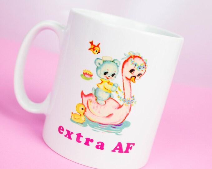 Extra AF mug, personalised happy coffee mug