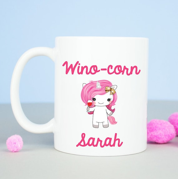 Wino-corn Unicorn coffee mug, Personalised unicorns mug, funny office mug, unicorns are real, birthday gift