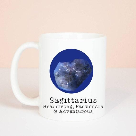 Sagittarius mug, Personalised back, lovely star sign Sagittarius mug, November 22 to December 22