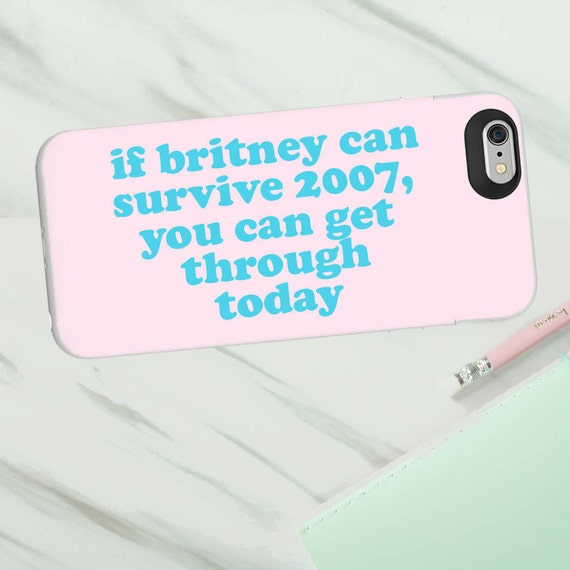 Britney 2007 phone case for Iphone or Samsung phones, vegan af print iphone case