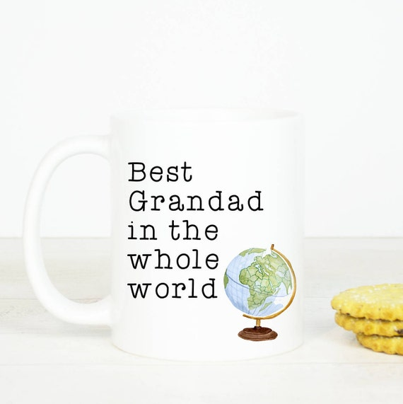 Best Grandad mug, Personalised back, great gift for Grandad, birthday mug