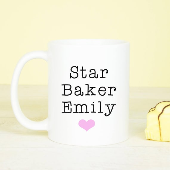 Personalised Star Baker mug, great baking mug for any star baker