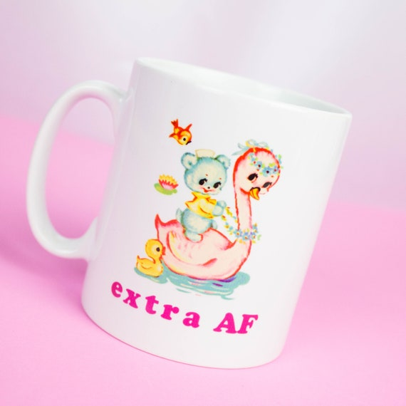 Extra AF mug, personalised happy coffee mug