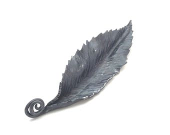 Wrought Iron Chestnut Leaf Sculpture or Wall Art (inv C3)