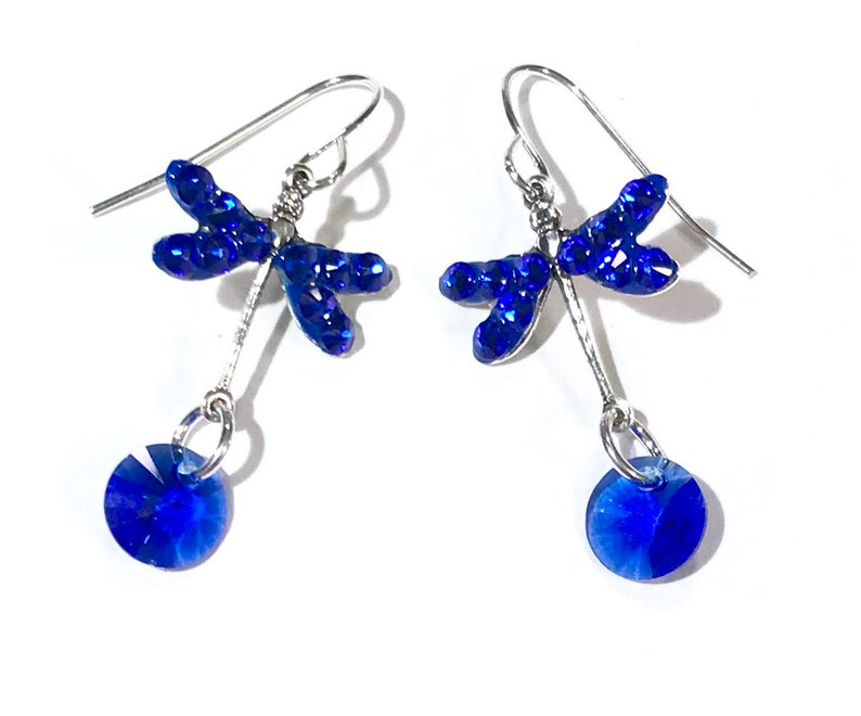271e93327 Dragonfly Earrings Dragonfly Jewelry Majestic Blue | Etsy