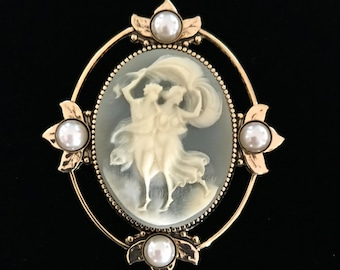 Cameo Brooch - Victorian Inspired Brooch - Cameo Jewelry - Brooch for Women - Statement Jewelry - Gift For Her