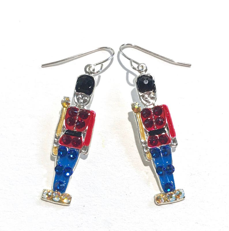 fef23b93a Toy Soldier Earrings with Sparkling Swarovski Crystals | Etsy