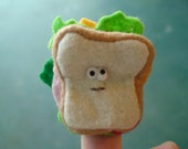Charlie the Sandwich finger puppet