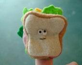 Charlie the Sandwich finger puppet