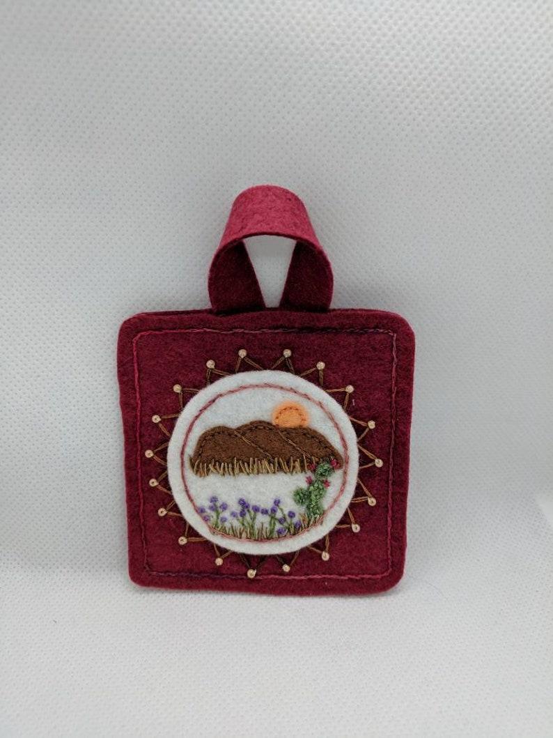 cactus ornament Embroidery Art Southwest Decor Desert decor