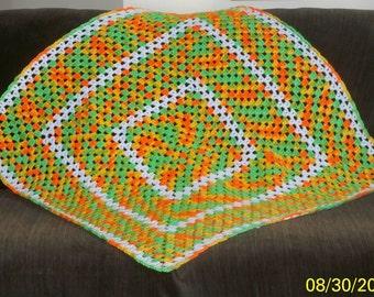 CITRUS Square Afghan/throw/blanket
