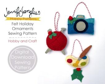 Hobby and Craft Felt Holiday Ornaments - PDF