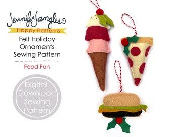 Food Fun Felt Holiday Ornaments - PDF