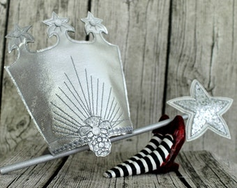 Glinda the Good Witch Wizard of Oz Crown or Wand for Children or Adults
