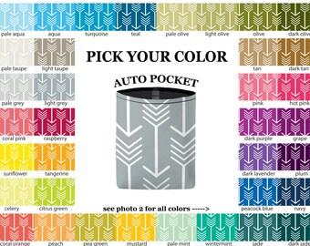 Auto Pocket - Arrows - PICK YOUR COLOR - Car Accessory Automobile Caddy